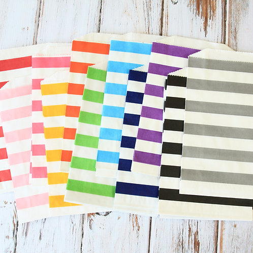 horizontal stripe middy bitty paper bags