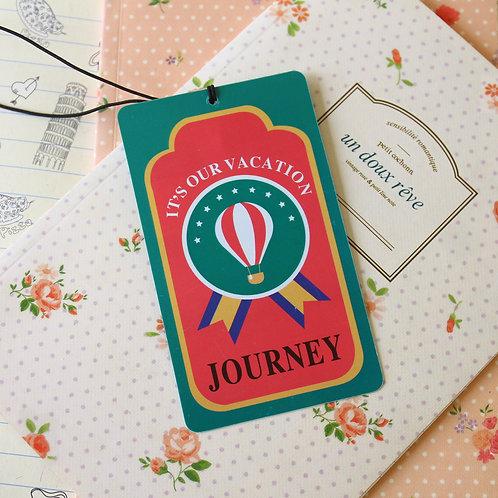 balloon journey travel name luggage tag