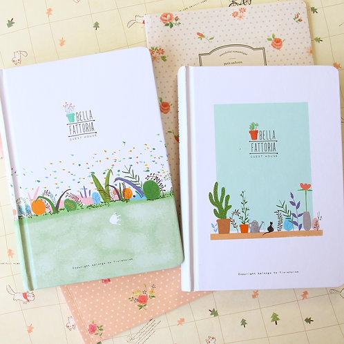 bella fattoria illustrated cartoon journal diary