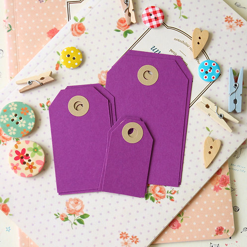 purple grape papermill series luggage gift tags