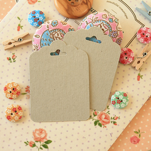 chipboard grey ornate scallop tags