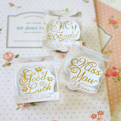 square acrylic crystal rubber stamps