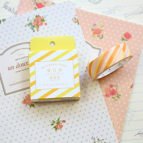 yellow stripes cardlover simple series washi tape