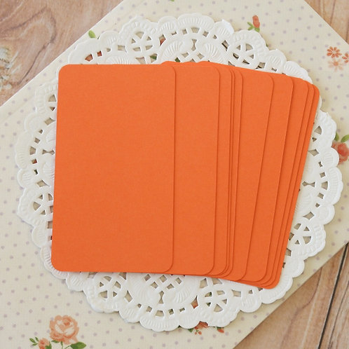 carrot orange blank business cards