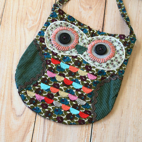 cuthbert ditsy owl vintage floral shoulder bag