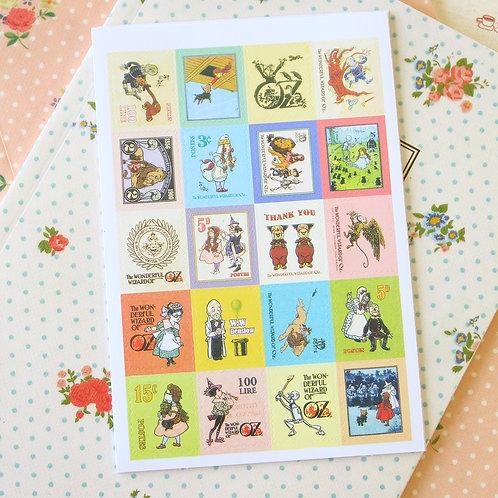 7321 wizard of oz cartoon stamp stickers