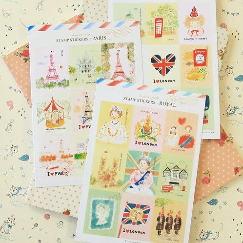 l'apres midi cartoon stamp stickers