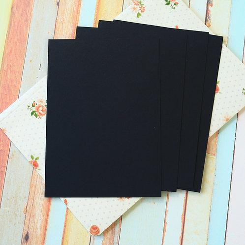 ink black craft style blank postcards
