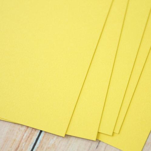 citron yellow vintage series card stock