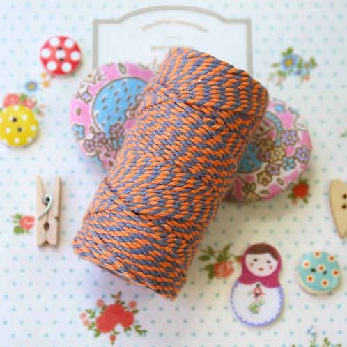 orange & eton blue two tone everlasto bakers twine 20m