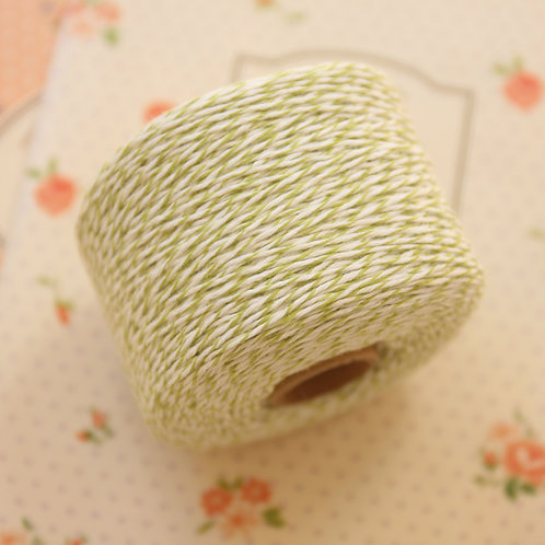 apple green twisted cotton bakers twine 200m