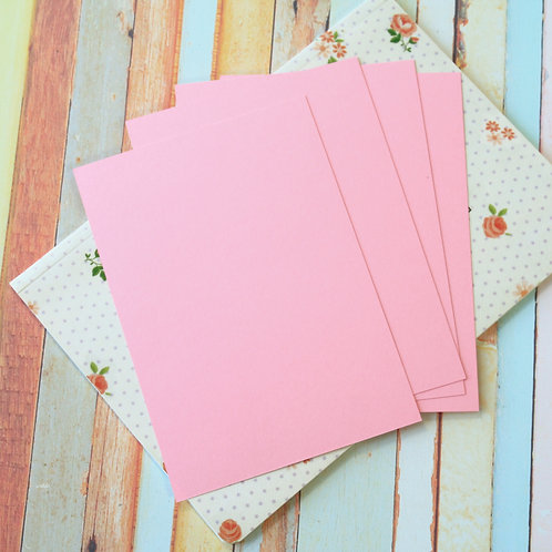 bubblegum pink craft style blank postcards