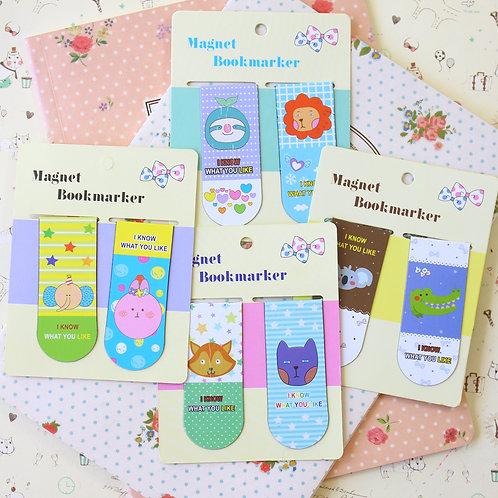 hello geeks cartoon magnetic bookmarks
