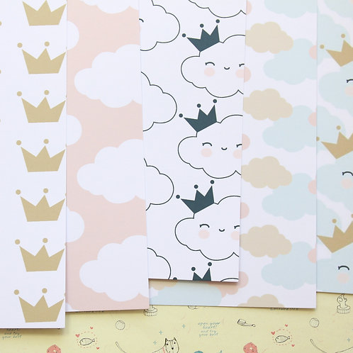 pretty clouds mix printed card stock