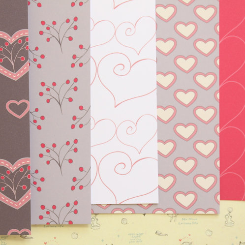 set 02 all my love mix patterns printed card stock
