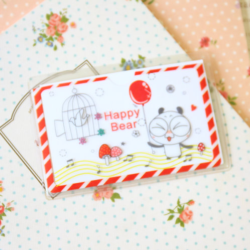happy bear cartoon card pocket holder