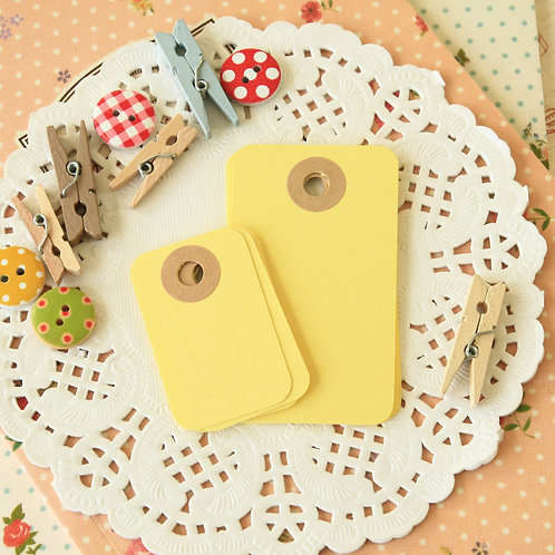 sunlight yellow rounded rectangle tags
