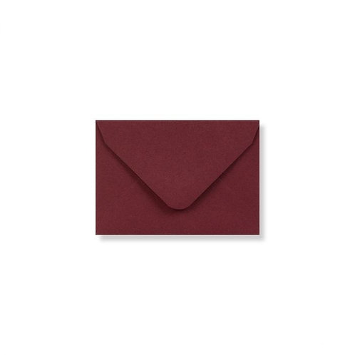 burgundy red clariana mini envelopes and note cards