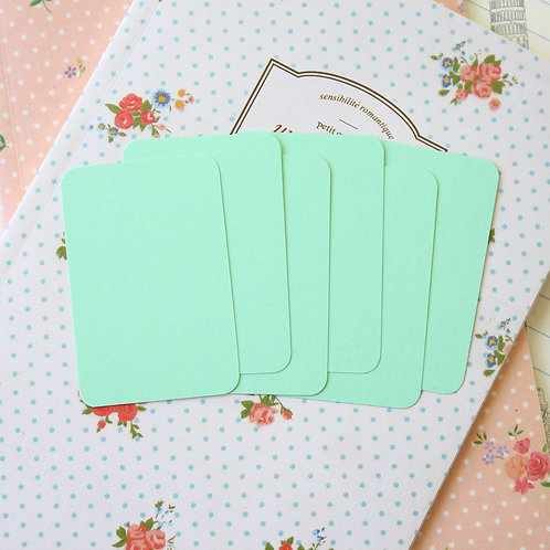 light spring green papermill colour blank business cards