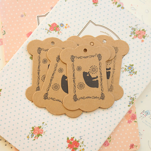 kitty cat kraft card spool bobbins