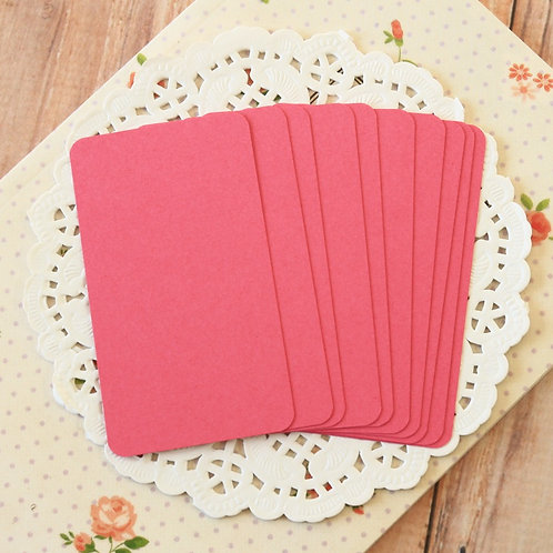 punch raspberry pink blank business cards