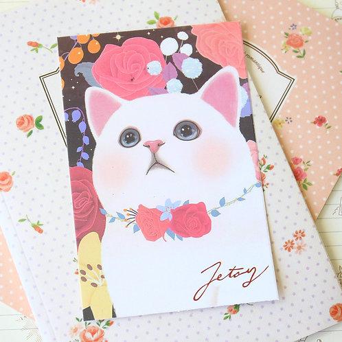 rose love choo choo cat cartoon postcard