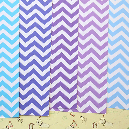 set 03 chevron art mix printed card stock