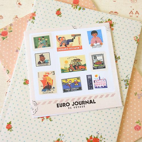 euro journal cartoon stamp stickers ver 02