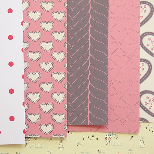 set 01 all my love mix patterns printed card stock
