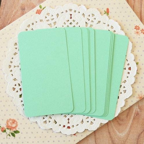 jade green blank business cards