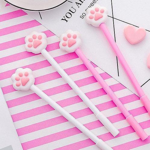 pink paws cute cartoon gel pen