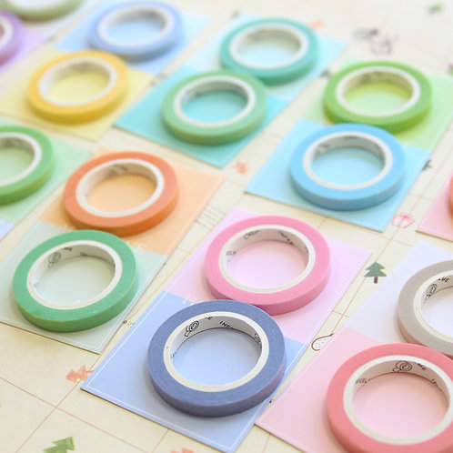 infeel.me colour slim deco washi tapes