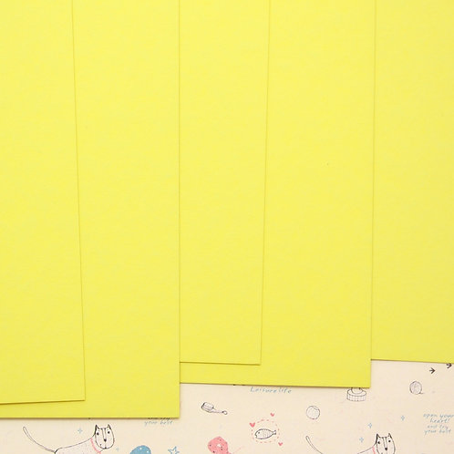 lemon yellow colorset card stock