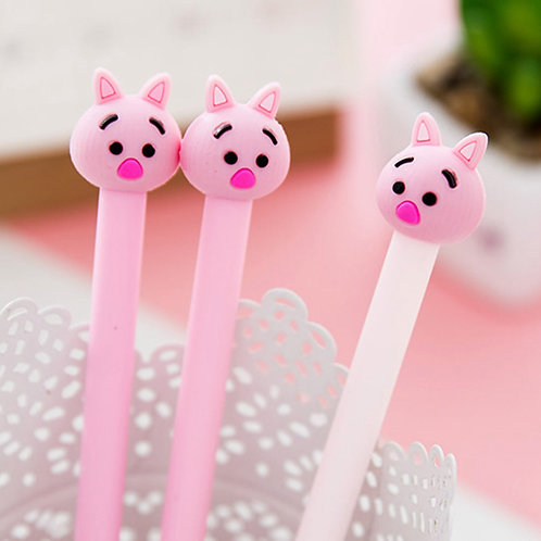pink pig cartoon pens
