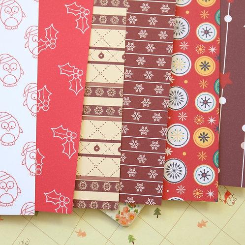 set 03 christmas mix cartoon printed card stock