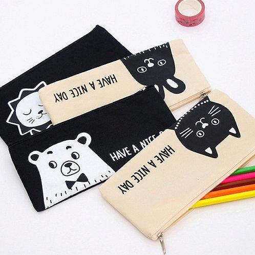 have a nice day cartoon animal pen bag