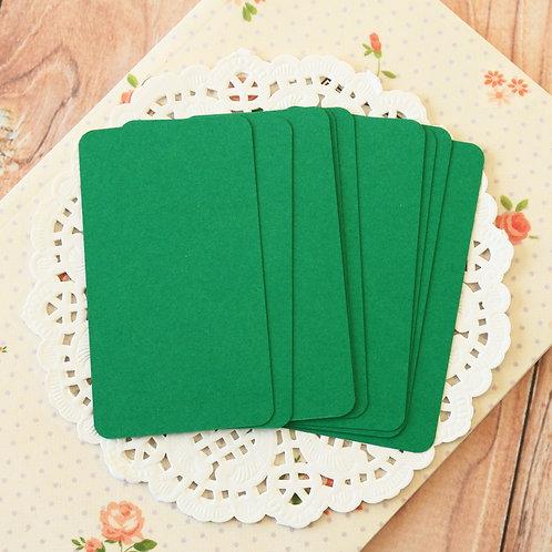 dark green blank business cards