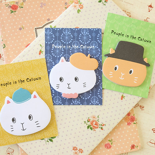 catown cartoon cat sticky notes