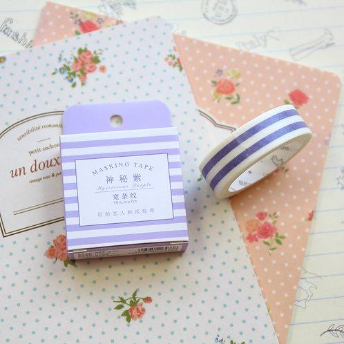 purple stripe cardlover simple series washi tape