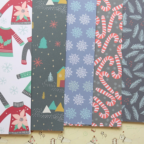 set 07 holiday patterns mix christmas printed card stock
