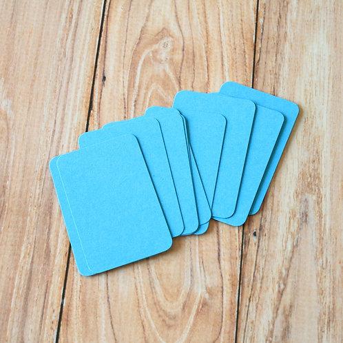 aquamarine blue blank business cards