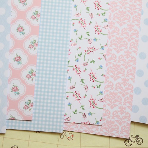 set 02 country cottons mix printed card stock
