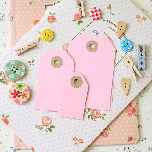 baby pink papermill series luggage gift tags