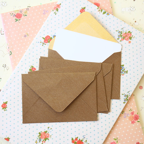 bronze textured mini envelopes & notecards