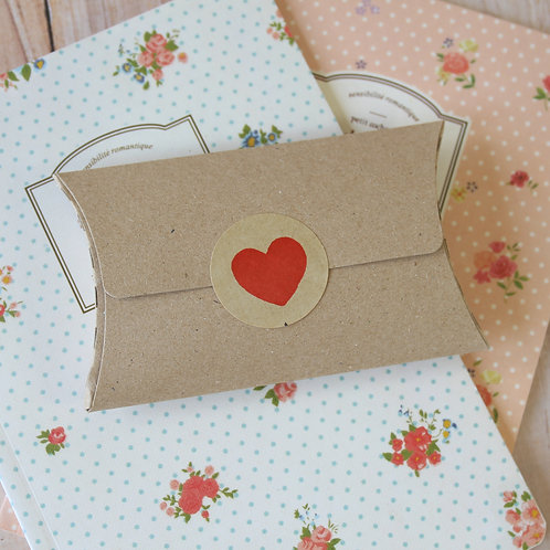 plain kraft brown no glue small pillow boxes