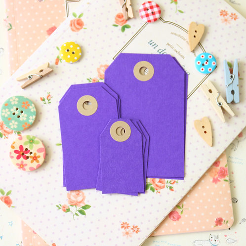 dark violet papermill series luggage gift tags