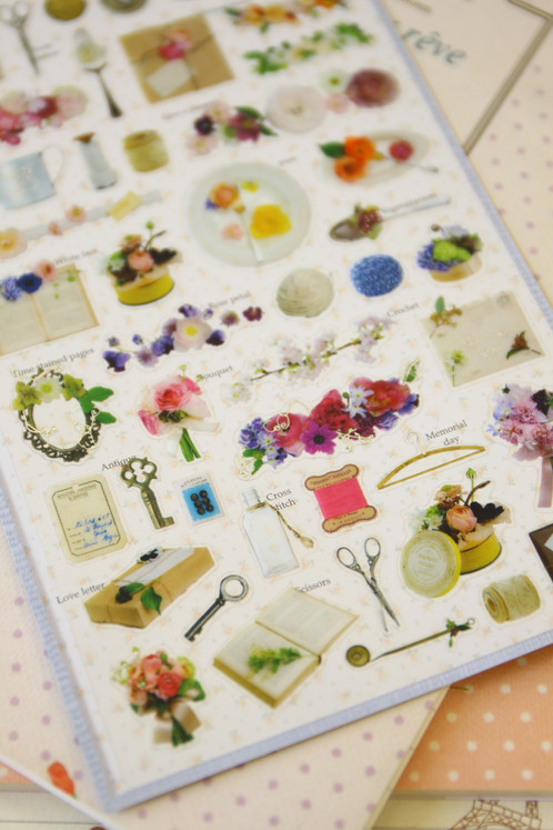 sonia antique floral deco stickers | LemonCat Shop | Get cute ...