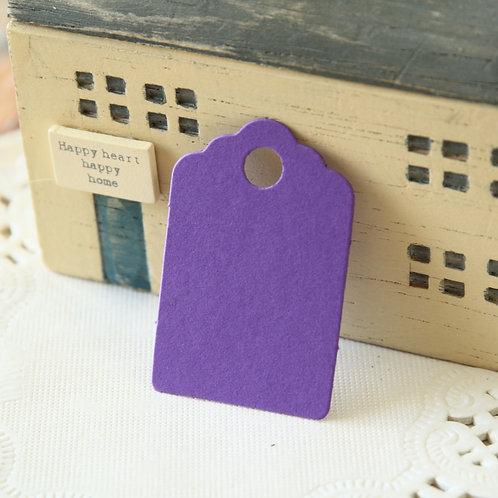 amethyst purple scallop swing tags