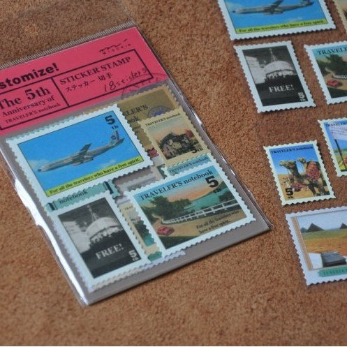 set 01 travellers notebook deco stamp stickers