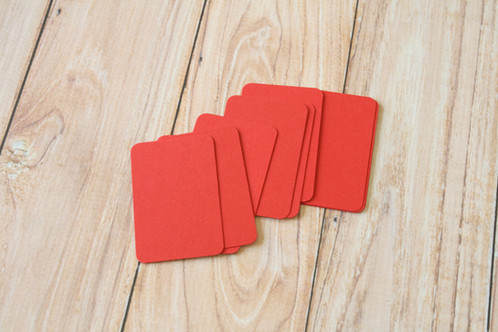 Scarlet red blank business cards lemoncat shop get cute very eco friendly these are ready to use for customized stamped business name cards hang tags mini post cards or reheart Choice Image